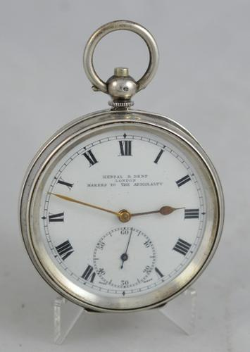 1919 Kendal & Dent Silver Pocket Watch (1 of 3)