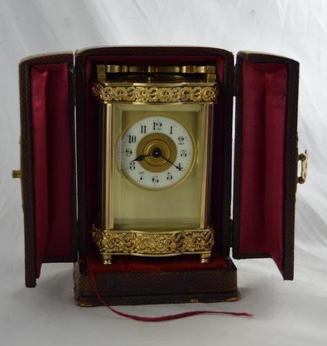 French Brass Cased Douchine Carriage Clock & Box (1 of 6)