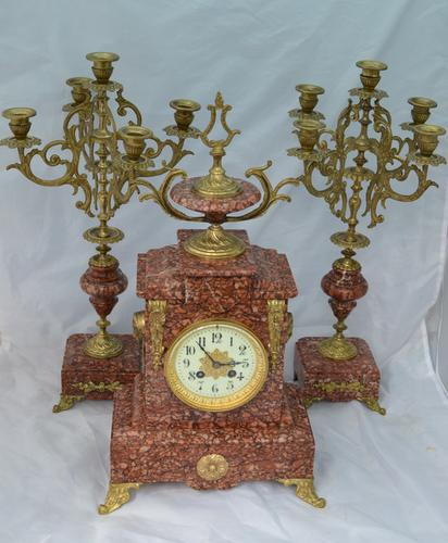 French Candelabra Clock Set c.1895 (1 of 6)