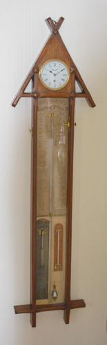 Admirol Fitzroy Victorian Clock Barometer (1 of 5)