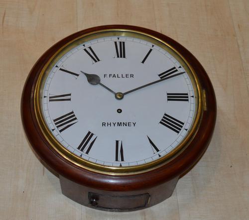 Faller of Rhymney Welsh Fusee Dial Wall Clock (1 of 4)