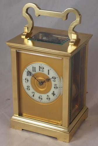 French Brass Striking Carriage Clock c.1900 (1 of 3)