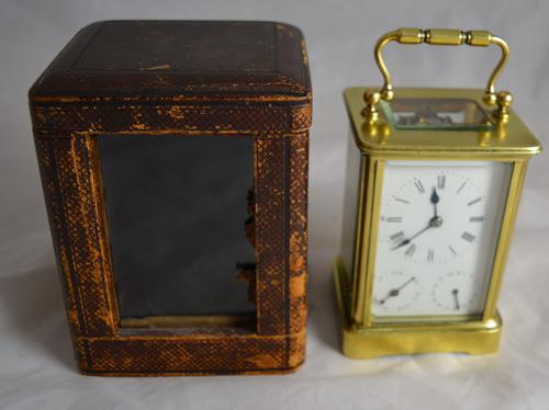 French Carriage Clock with Calendar c.1895 (1 of 1)