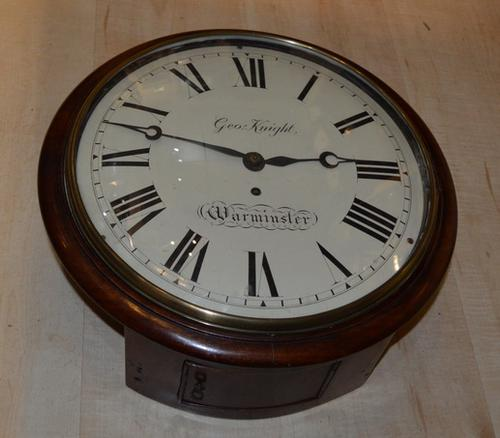 English Convex Dial Fusee Wall Clock c.1860 (1 of 1)