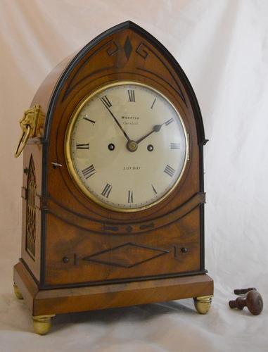 Webster London Twin Fusee Bracket Clock c.1820 (1 of 1)