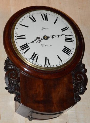 Jones, Ruthin Welsh Fusee Drop-Dial Wall Clock C.1845 (1 of 1)