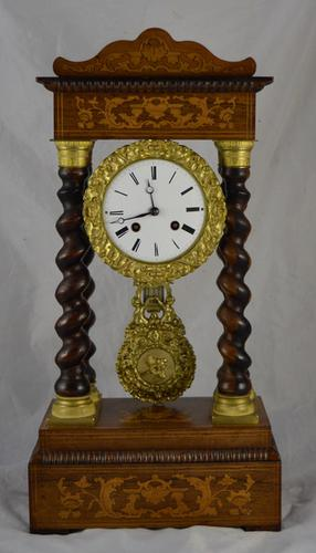 French Rosewood Portico Clock C.1860 (1 of 1)