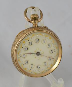 Swiss 14K Gold Pocket Watch c.1900 (1 of 1)