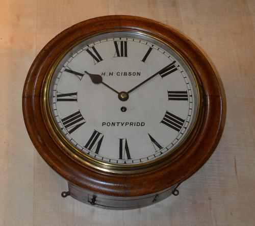 H Gibson of Pontypridd Fusee Dial Clock c.1895 (1 of 1)
