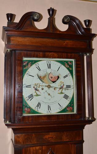 Longcase Grandfather Clock J Houghton Chorley (1 of 1)