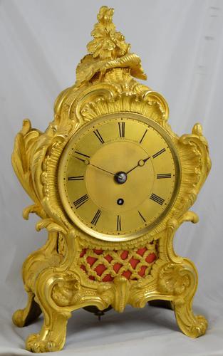 Viner & Co London Ormolu Fusee Mantel Clock (1 of 5)