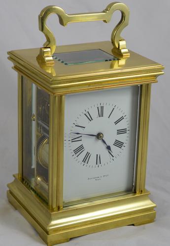 Elkington French Striking Carriage Clock c.1900 (1 of 1)