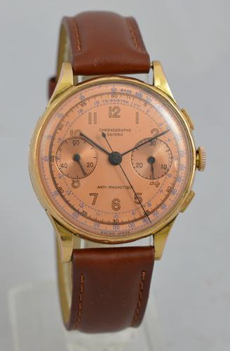 Chronograph Suisse 18K Gold Wristwatch (1 of 1)