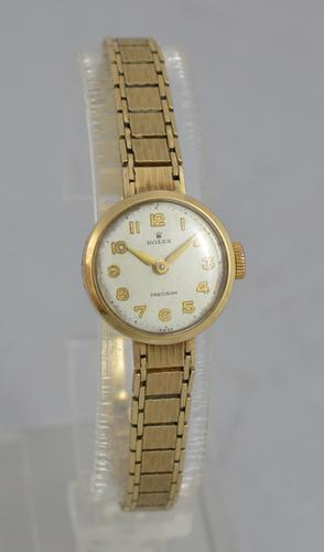 1963 Ladies Rolex Precision 9K Gold Watch (1 of 1)