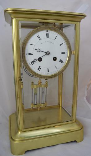 Four Glass Mantel Clock c.1895 (1 of 1)
