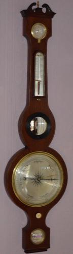 Victorian Mahogany Wheel Barometer (1 of 1)