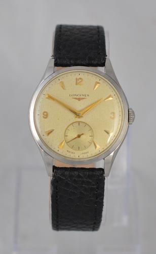 1956 Stainless Steel Longines Wristwatch (1 of 1)