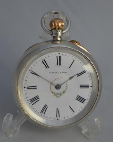 Ladies Silver Pocket Watch by J.W. Benson (1 of 1)