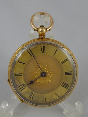 Ladies Victorian 18K Gold Pocket Watch (1 of 1)