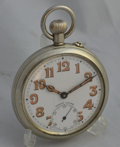 Nickel Cased Sphinx Lever Pocket Watch c.1915 (1 of 1)