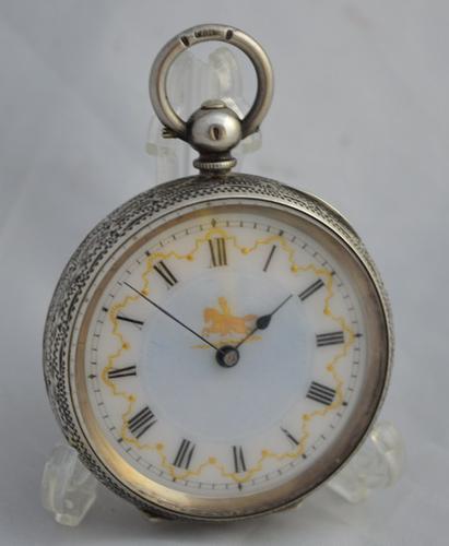 Victorian Ladies Silver Pocket Watch (1 of 1)