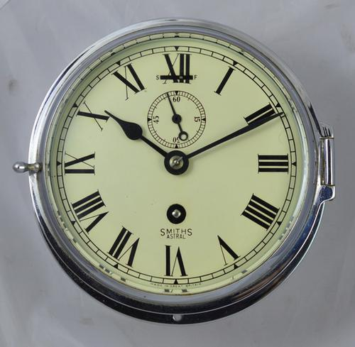 Chrome Ships Wall Clock by Smiths c.1935 (1 of 1)