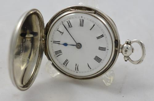 Silver Full Hunter Pocket Watch (1 of 1)