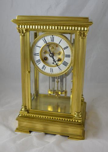 French Four Glass Mantel Clock by Vincenti c.1890 (1 of 1)