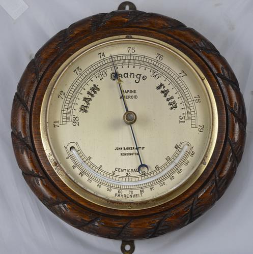 Victorian Aneroid 'Marine' Barometer (1 of 1)