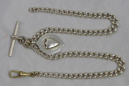 Silver Double Albert Watch Chain c.1923 (1 of 1)