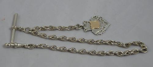 Silver Fancy Link Watch Chain c.1907 (1 of 1)