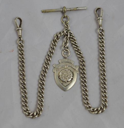 Silver Double Albert Watch Chain c.1922 (1 of 1)