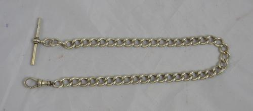 Silver Single Albert Watch Chain c.1920 (1 of 1)