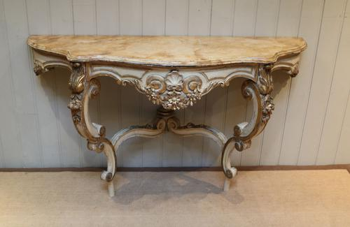 Pair of Painted Console Tables c.1880 (1 of 8)