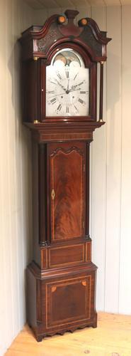 Mahogany & Inlay Centre Seconds Longcase Clock, England c.1790 to c.1800 (1 of 16)