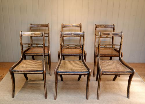 Set of Six Regency Cane Seat Chairs (1 of 8)