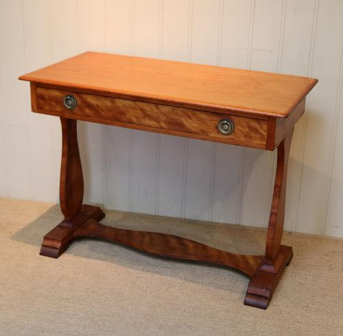 Satinwood Lyre End Table c.1890 (1 of 8)