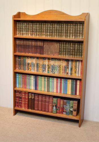 Edwardian Light Oak Open Bookcase (1 of 9)