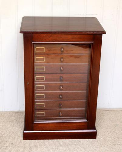 Mahogany Collectors Cabinet c.1890 (1 of 8)