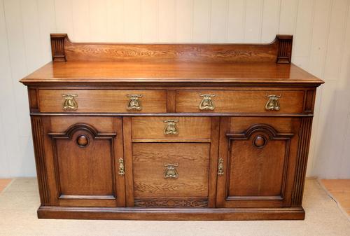 Substantial Oak Arts & Crafts Sideboard (1 of 10)