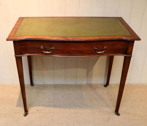 Mahogany Serpentine Front Writing Table (1 of 9)