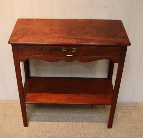 Edwardian Style Mahogany Side Table c.1930 (1 of 8)