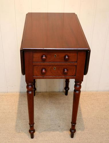 Mahogany Drop Leaf Side Table c.1850 (1 of 9)