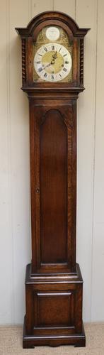 Solid Oak English Grandmother Clock, England c.1920 (1 of 1)
