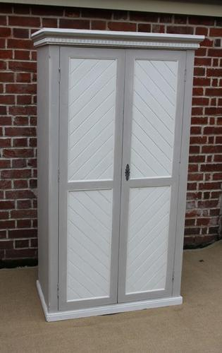 Painted Two Door Wardrobe, French c.1900 (1 of 1)