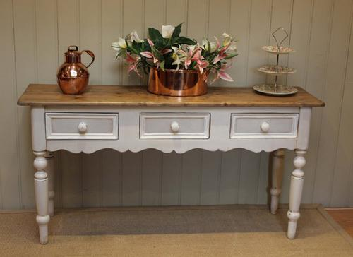 Vintage Painted Console Table, English c.1950 (1 of 1)