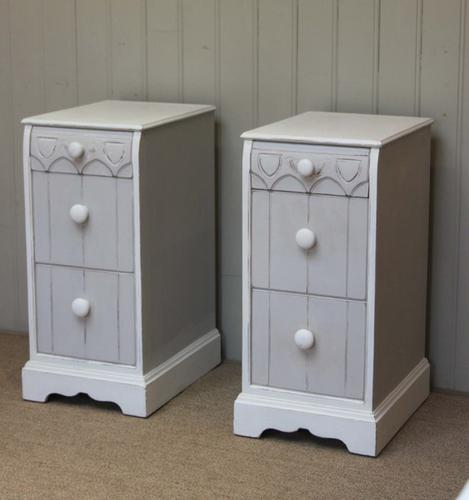 Unusual Pair of Painted Bedside Cabinets, English c.1940 (1 of 1)