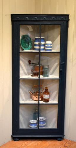 Painted Glazed Corner Display Cabinet, English C.1920 (1 of 1)