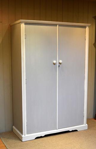 English 1920s Two Door Painted Wardrobe (1 of 7)