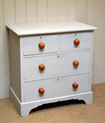 Victorian Painted Chest of Drawers, English c.1890 (1 of 1)